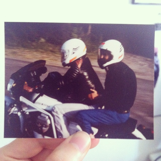 My stepfather. #guzzi #lemans3
