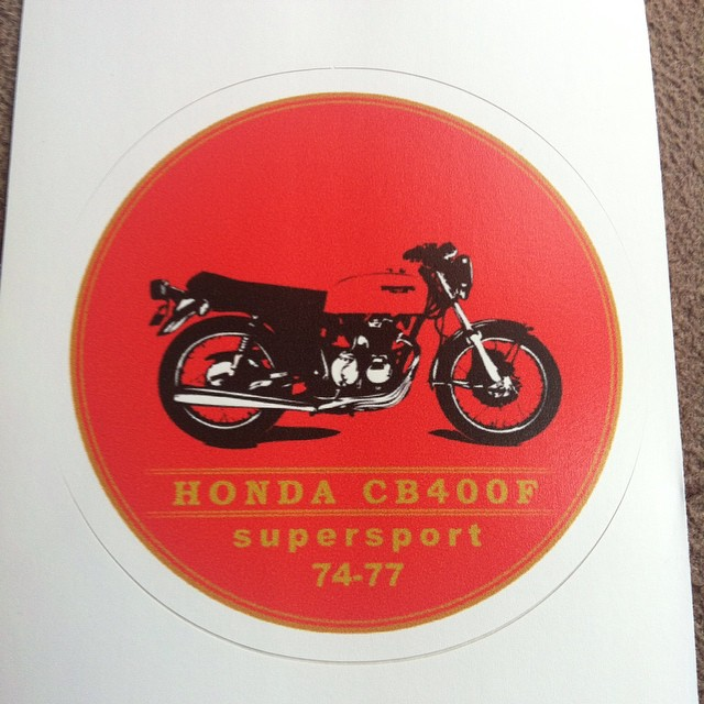 My sticker available here http://www.redbubble.com/people/visualaffection/works/12907012-honda-cb400f-supersport #honda #cb400f #cb400four