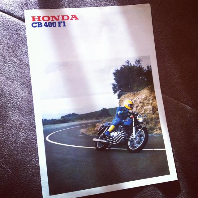 Original french brochure 1975 #honda #cb400f #cb400four #France