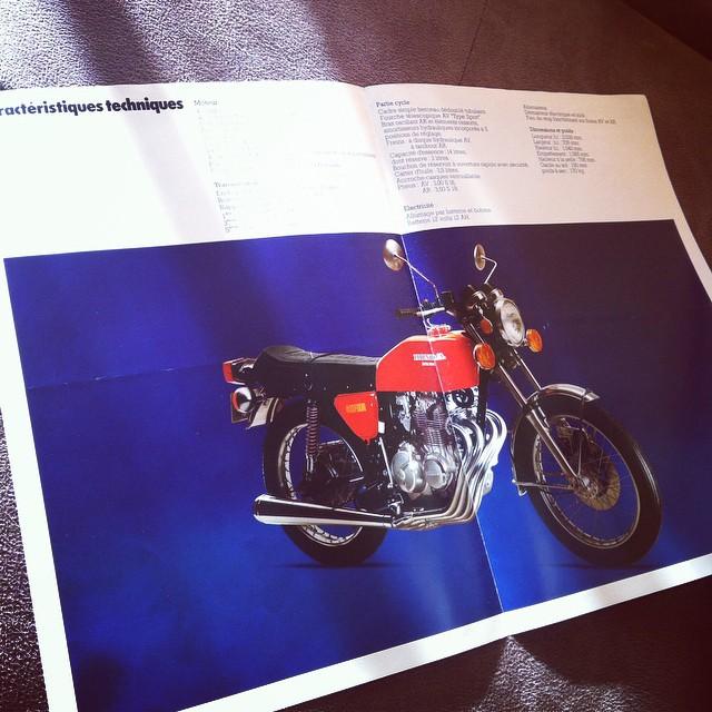 Original french brochure 1975 #cb400f #honda #cb400four